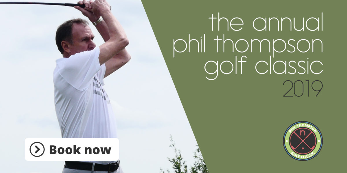 Book your place now! The annual Phil Thompson Golf Classic 2019.